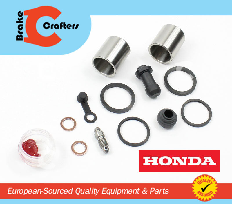 Brakecrafters Caliper Rebuild Kit 2001 - 2014 HONDA VT750 SHADOW SPIRIT - FRONT BRAKE CALIPER NEW SEAL & STAINLESS STEEL PISTON KIT