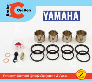 Brakecrafters Caliper Rebuild Kit 2001 YAMAHA YZF R6S - FRONT BRAKE CALIPER NEW PISTON AND SEAL KIT