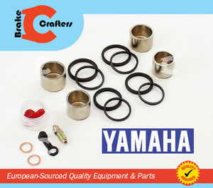 Brakecrafters Caliper Rebuild Kit 2001 - 2013 YAMAHA FZS1000 FZ1 FAZER - FRONT BRAKE CALIPER NEW PISTON AND SEAL KIT