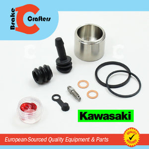 Brakecrafters Caliper Rebuild Kit 1986 - 2006 KAWASAKI ZG1000A CONCOURS - REAR BRAKE CALIPER NEW SEAL & STAINLESS STEEL PISTON KIT