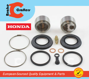 1975 - 1976 HONDA CB750F SUPERSPORT - REAR BRAKE CALIPER NEW SEAL & STAINLESS STEEL PISTON KIT WITH OUTER BOOTS