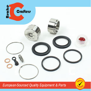 Brakecrafters Caliper Rebuild Kit 1978 - 1979 HONDA GL1000 GOLDWING - REAR BRAKE CALIPER SEAL & STAINLESS STEEL PISTON KIT