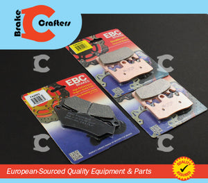 Brakecrafters Brake Pads 2014 - 2015 BMW R 1200 GS ADVENTURE LIQUID COOLED - FRONT & REAR EBC HH & ORGANIC BRAKE PADS