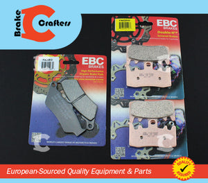 Brakecrafters Brake Pads 2013 - 2015 BMW R 1200 GS LIQUID COOLED - FRONT & REAR EBC HH & ORGANIC BRAKE PADS