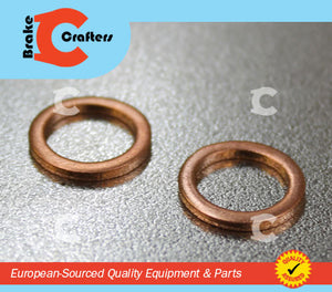 Brakecrafters  COPPER CRUSH WASHERS