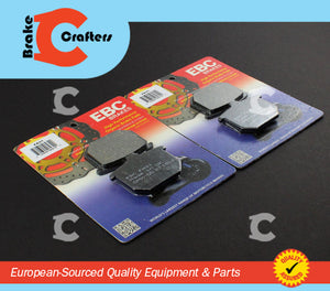 Brakecrafters Brake Pads 1977 - 1978 HONDA CB750F SUPERSPORT - FRONT EBC PERFORMANCE ORGANIC BRAKE PADS - 2 PAIR