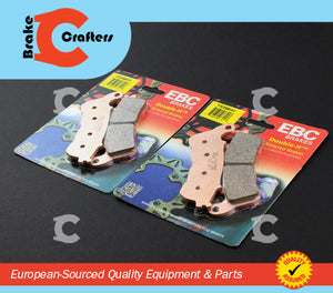 2006 - 2009 HONDA VFR 800 INTERCEPTOR ABS - FRONT EBC HH RATED SINTERED BRAKE PADS - 2 PAIRS