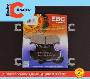 Brakecrafters Brake Pads 1982 - 1983 HONDA GL1100 GOLDWING - REAR EBC PERFORMANCE ORGANIC BRAKE PADS