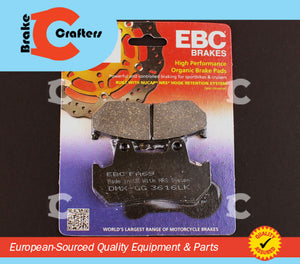 Brakecrafters Brake Pads 1984 - 1986 HONDA VF1000 INTERCEPTOR - FRONT EBC PERFORMANCE ORGANIC BRAKE PADS