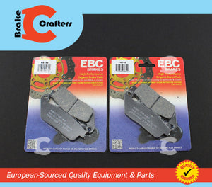 1994 - 1998 HONDA PC800 PACIFIC COAST - FRONT EBC ORGANIC BRAKE PADS - 2 PAIR