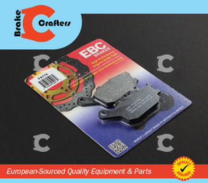 Brakecrafters Brake Pads 2004 - 2009 YAMAHA FZ6 - REAR EBC PERFORMANCE ORGANIC BRAKE PADS