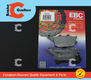 1998 - 2005 HONDA VTR1000F SUPERHAWK - REAR EBC PERFORMANCE ORGANIC BRAKE PADS