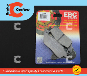 1990 - 1997 HONDA VFR750F INTERCEPTOR - REAR EBC PERFORMANCE ORGANIC BRAKE PADS