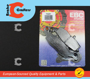 Brakecrafters Brake Pads 2001 - 2004 SUZUKI VL800 INTRUDER VOLUSIA - FRONT EBC PERFORMANCE ORGANIC BRAKE PADS