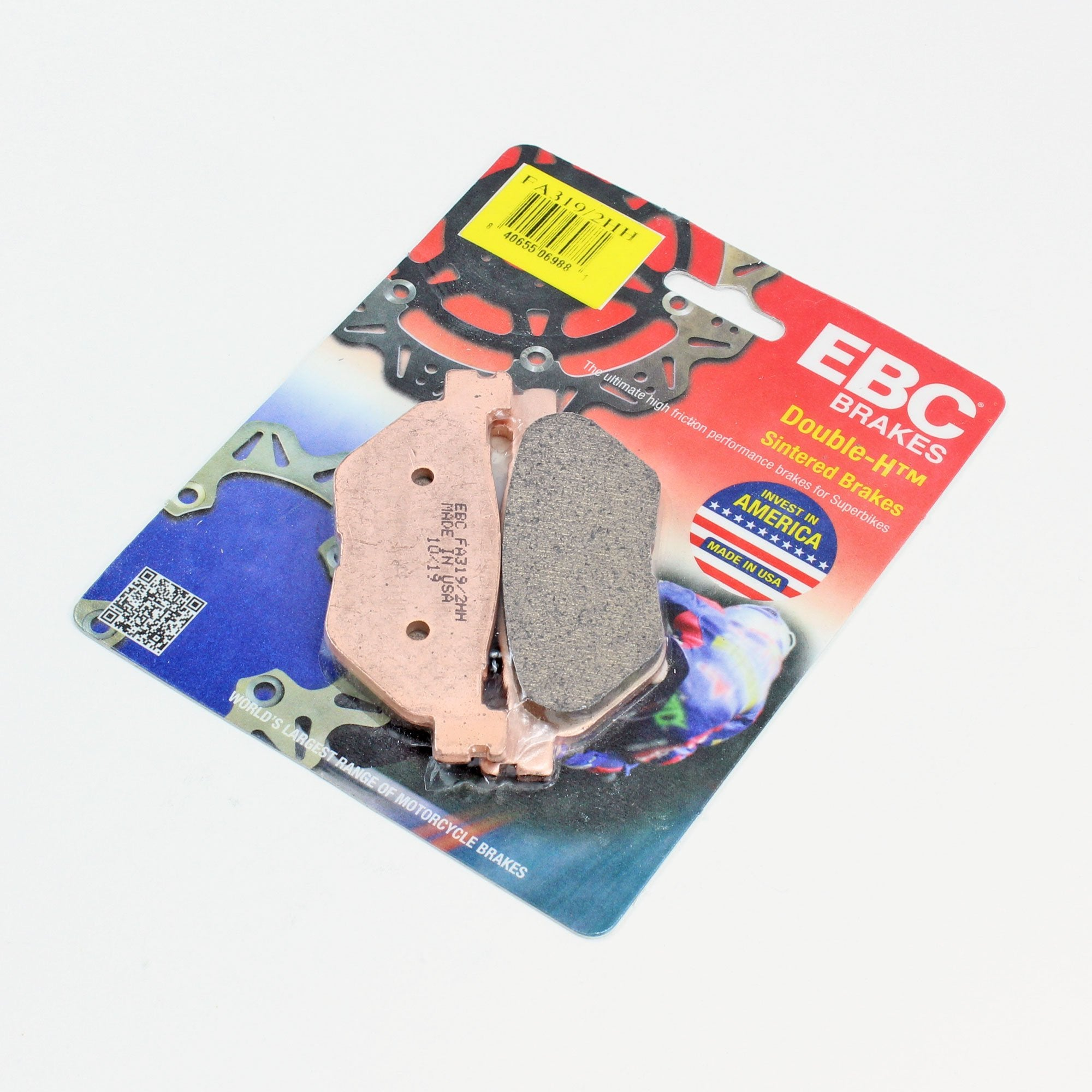 Brakecrafters Brake Pads 2006 - 2014 YAMAHA XV1900 - REAR EBC HH RATED SINTERED BRAKE PADS - 1 PAIR