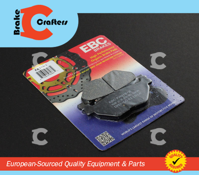 Brakecrafters Brake Pads 2006 - 2010 YAMAHA XV1900 ROADLINER S - REAR EBC PERFORMANCE ORGANIC BRAKE PADS