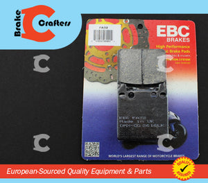Brakecrafters Brake Pads 1975 - 1979 HONDA GL1000 GOLDWING - REAR EBC PERFORMANCE ORGANIC BRAKE PADS