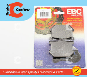 Brakecrafters Brake Pads 1978 - 1981 YAMAHA XS1100 - REAR EBC PERFORMANCE ORGANIC BRAKE PADS