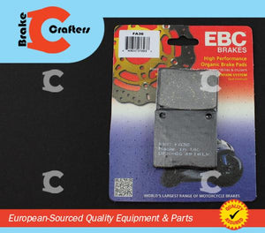 Brakecrafters Brake Pads 1979 KAWASAKI KZ650C from f/no. 23101 - REAR EBC PERFORMANCE ORGANIC BRAKE PADS