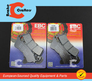 2006 - 2009 HONDA VFR 800 INTERCEPTOR ABS - FRONT EBC PERFORMANCE ORGANIC BRAKE PADS - 2 PAIRS
