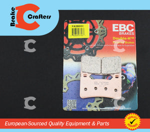 Brakecrafters Brake Pads 2005 - 2017 HONDA CBR 600 RR NON ABS - FRONT EBC HH RATED SINTERED BRAKE PADS