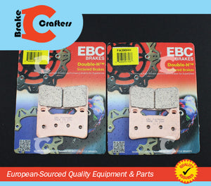 Brakecrafters Brake Pads 2009 - 2017 HONDA CBR 600 RR ABS - FRONT EBC HH RATED SINTERED BRAKE PADS - 2 PAIRS