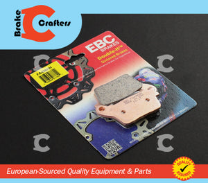 Brakecrafters Brake Pads 2011 - 2016 SUZUKI GSXR750L - REAR EBC PERFORMANCE HH RATED SINTERED BRAKE PADS