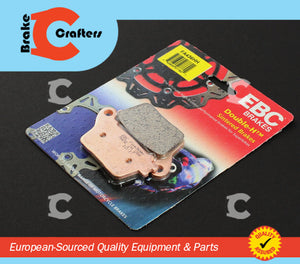 Brakecrafters Brake Pads 2007 - 2015 HONDA CBR600RR / RRA - REAR EBC PERFORMANCE HH RATED SINTERED BRAKE PADS