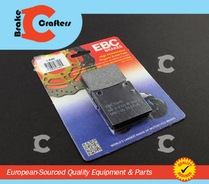 Brakecrafters Brake Pads 1979 - 1981 HONDA CM400 A/T - FRONT EBC PERFORMANCE ORGANIC BRAKE PADS