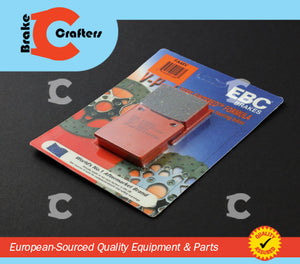 Brakecrafters Brake Pads 1978 - 1986 HONDA CB250 N/T DREAM - FRONT EBC SEMI SINTERED V BRAKE PADS