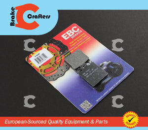 Brakecrafters Brake Pads EBC FA47 PERFORMANCE ORGANIC REAR BRAKE PADS FOR BREMBO CALIPERS