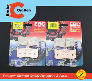 Brakecrafters Brake Pads 2013 - 2017 TRIUMPH 675 DAYTONA ABS - FRONT EBC HH RATED SINTERED BRAKE PADS - 2 PAIRS