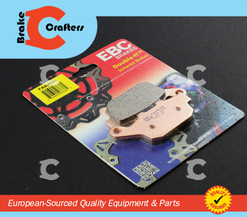 Brakecrafters Brake Pads 2011 - 2014 HONDA CBR 250 R - REAR EBC HH RATED SINTERED BRAKE PADS