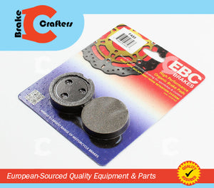 1974 - 1976 SUZUKI GT185 ADVENTURER - FRONT EBC PERFORMANCE ORGANIC BRAKE PADS