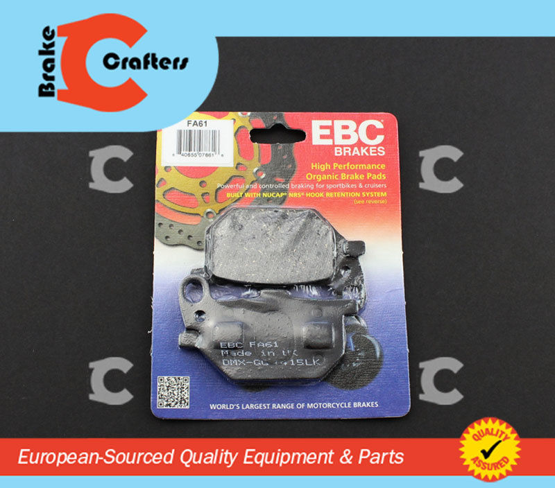 Brakecrafters Brake Pads 1979 - 1981 YAMAHA XS1100S SPECIAL - FRONT LEFT EBC PERFORMANCE ORGANIC BRAKE PADS