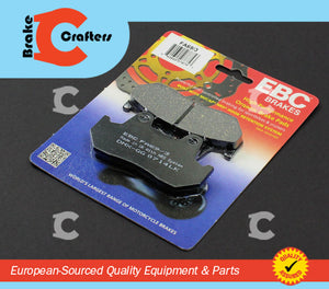 1987 - 1990 HONDA CBR600F HURRICANE - REAR EBC PERFORMANCE ORGANIC BRAKE PADS
