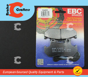 Brakecrafters Brake Pads 1984 - 1987 HONDA GL1200 GOLDWING - FRONT EBC PERFORMANCE ORGANIC BRAKE PADS