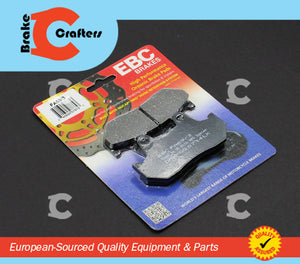 Brakecrafters Brake Pads 1986 HONDA VFR750F INTERCEPTOR - REAR EBC PERFORMANCE ORGANIC BRAKE PADS
