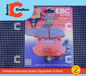 1983 HONDA VT750C SHADOW - FRONT EBC SEMI SINTERED V BRAKE PADS