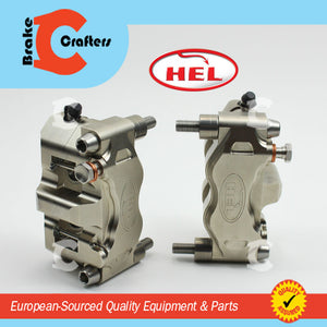 Brakecrafters  HEL PERFORMANCE 4 PISTON BILLET 108mm BRAKE CALIPERS