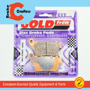 Brakecrafters Brake Pads 2007 - 2017 HONDA CBR600RR - REAR GOLDFREN S33 BRAKE PADS - 1 PAIR