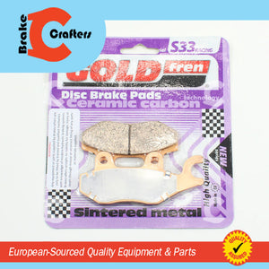 Brakecrafters Brake Pads 1997 TRIUMPH DAYTONA T595 - REAR GOLDFREN S33 BRAKE PADS - 1 PAIR
