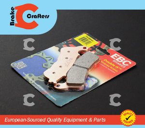 Brakecrafters Brake Pads 2011 - 2014 HONDA CBR 250 RA ABS MODEL - FRONT EBC HH RATED SINTERED BRAKE PADS