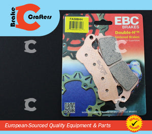Brakecrafters Brake Pads 2013 - 2014 HONDA VT 750 CSE SHADOW AERO ABS - FRONT EBC HH RATED SINTERED BRAKE PADS