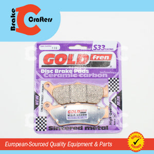 Brakecrafters Brake Pads 2004 - 2017 TRIUMPH ROCKET III - REAR GOLDFREN S33 BRAKE PADS - 1 PAIR