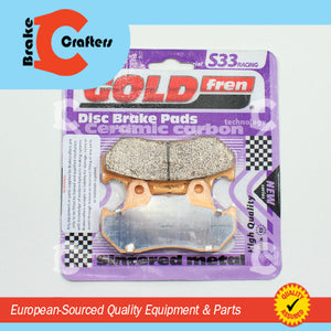 HONDA CB750F GOLDFREN SINTERED MOTORCYCLE BRAKE PADS S33-049