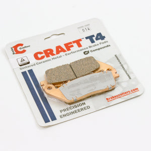 2006 - 2017 TRIUMPH AMERICA - CRAFT T4 FRONT CERAMIC BRAKE PADS - 1 PAIR