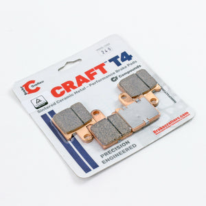 2008 - 2016 KAWASAKI CONCOURS 14 - FRONT CRAFT T4 CERAMIC BRAKE PADS - 1 PAIR