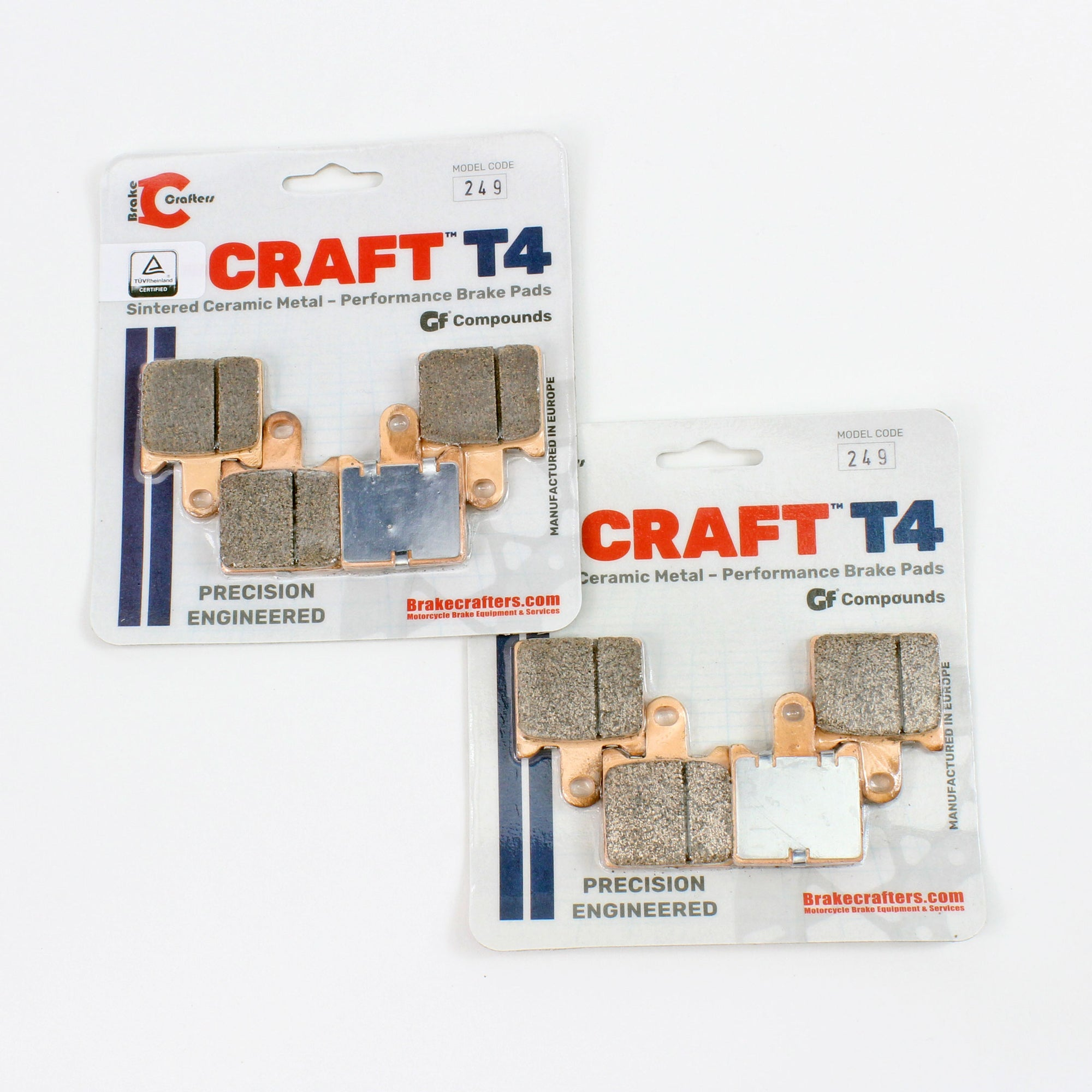 2008 - 2016 KAWASAKI CONCOURS 14 - FRONT CRAFT T4 CERAMIC BRAKE PADS - 2 PAIR