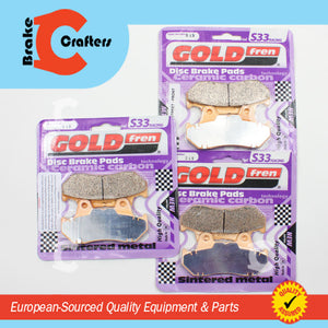 HONDA CX500TC GOLDFREN SINTERED MOTORCYCLE BRAKE PADS S33-049